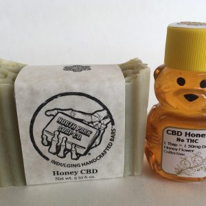 Honey Flower Collective Natural and Organic CBD Soap - Hand-Crafted Honey CBD Soap - 1 Oversized Bar